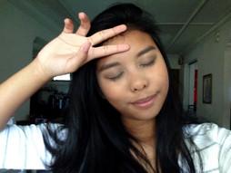 Photos of cute asian girl blogger..
