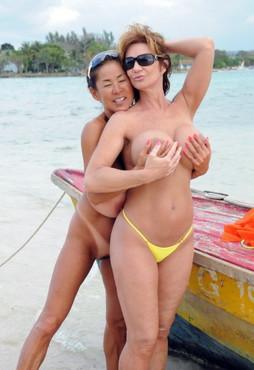 Busty asian granny MINKA lesbian sex..