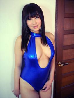 Phat Asian girl in blue bikkini